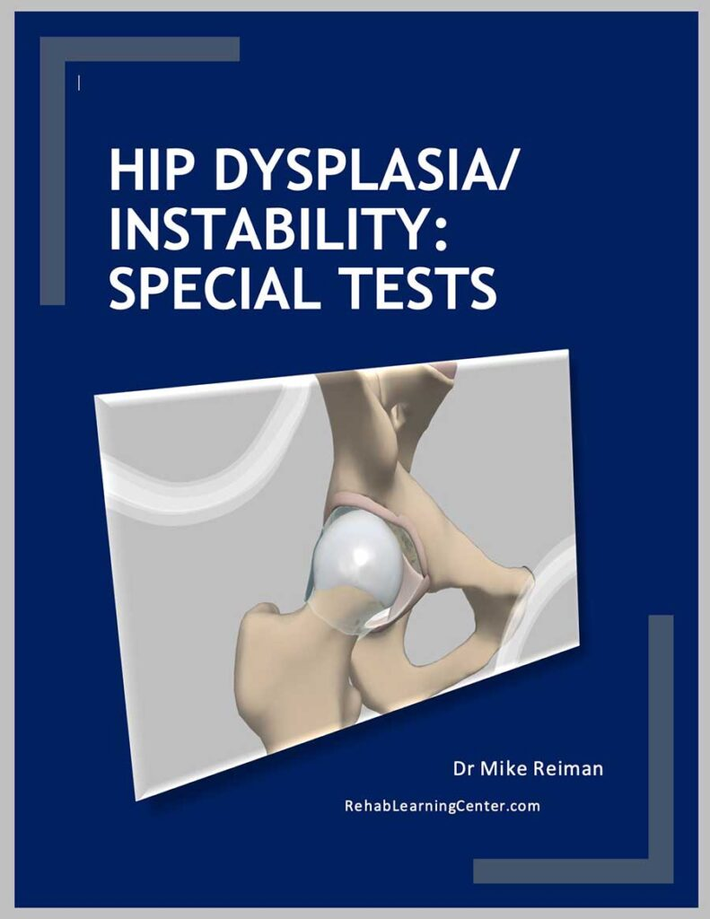 Physical Therapy Hip Dysplasia and Instability: Special Tests eBook for Continuing Education